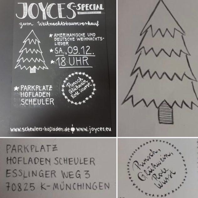 JOYCES Special zum Weihnachtsbaum-Verkauf @ Parkplatz von Scheuler's Hofladen | Korntal-Münchingen | Baden-Württemberg | Deutschland